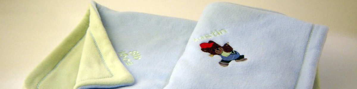 Custom embroidered birth record blanket slider image 1